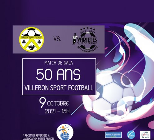 Le Villebon Sport Football organise un match avec le Variété Club de France