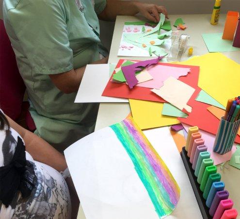 Ateliers d'expression plastique au CHU de Limoges