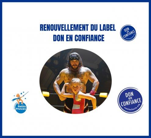 """Renouvellement du label """"Don en Confiance"""""""