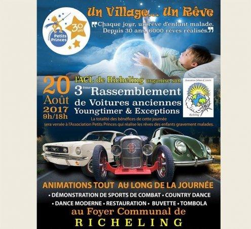 Rassemblement de voitures anciennes à Richeling