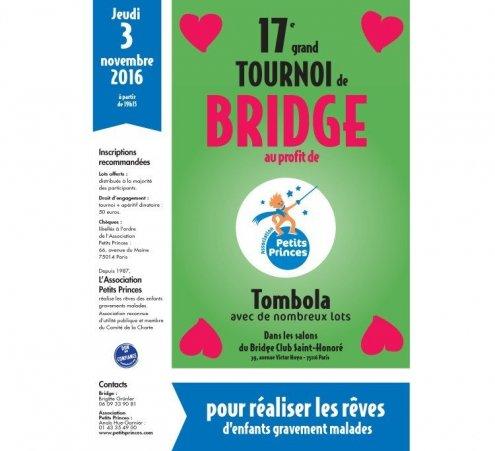 Avis aux amateurs : tournoi de bridge solidaire le 3 novembre 2016 !