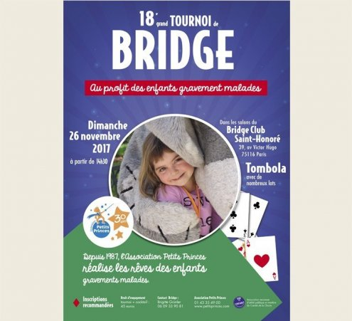 Tournoi de bridge solidaire le dimanche 26 novembre 2017 !