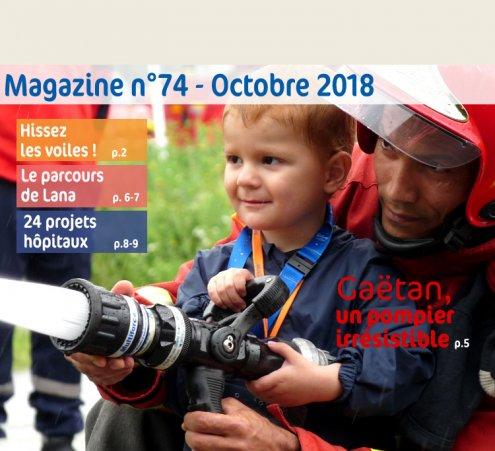 Magazine n°74 - Gaëtan, un pompier irrésistible
