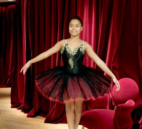 Premier ballet pour une jeune ballerine