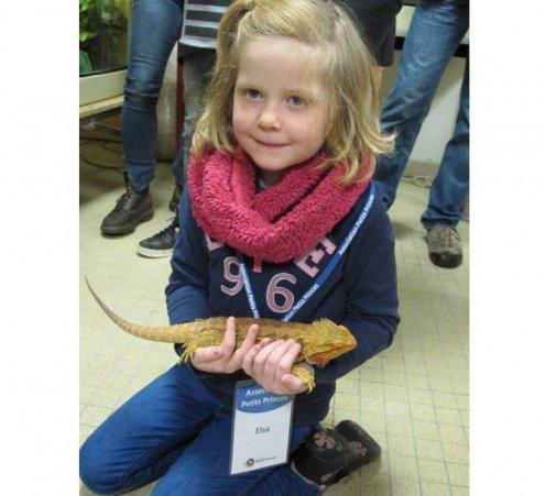 Elsa, 6 ans, a approché les animaux sauvages