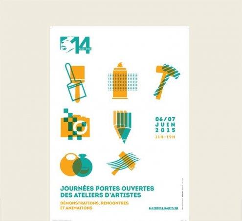 Journées Portes ouvertes des ateliers d'Artistes - Mairie du 14e arrdt de Paris
