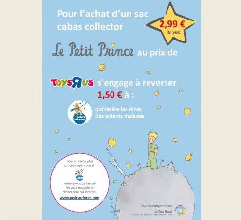 Sac collector Toys' R' Us pour les 70 ans du Petit Prince