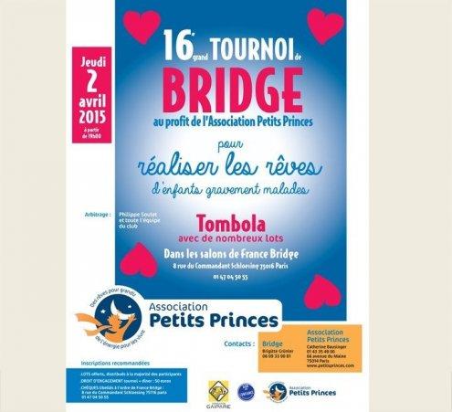 Tournoi de bridge solidaire le 2 avril 2015 !