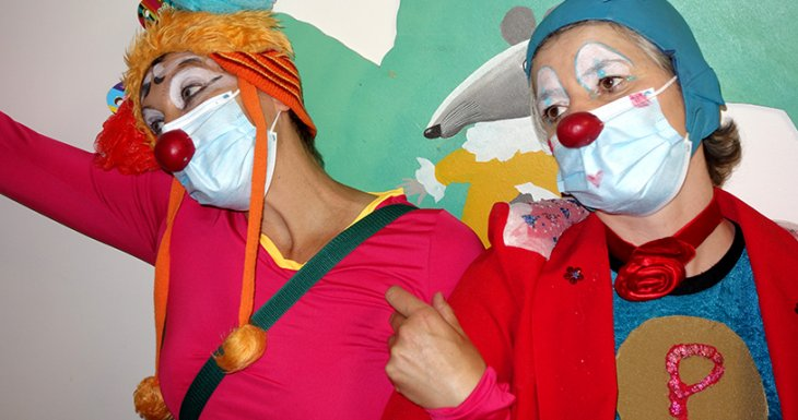 Des clowns à l'Hôpital du Kremlin-Bicêtre (94)