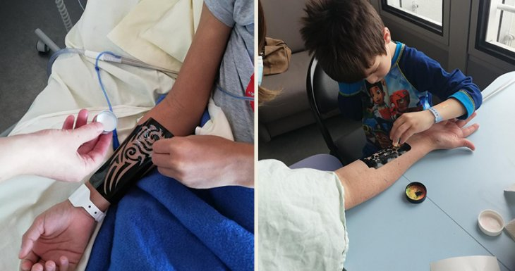 Un atelier tatouages et paillettes à Necker