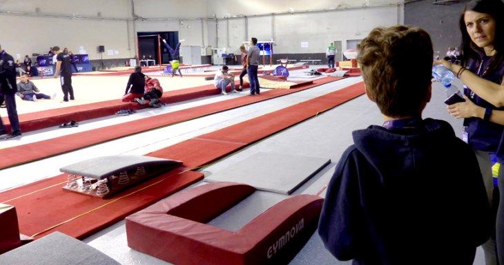 Clément aux Internationaux de France de gymnastique