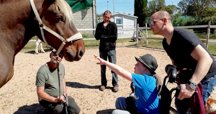 Roméo et les chevaux de Camargue