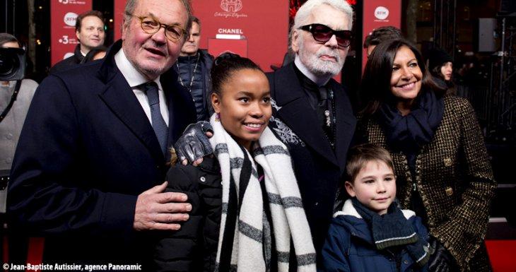 Illumination des Champs-Élysées avec Karl Lagerfeld