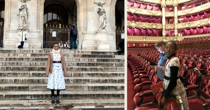 Candice à l'Opéra Garnier