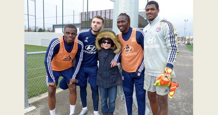 Entraînement de l'Olympique Lyonnais