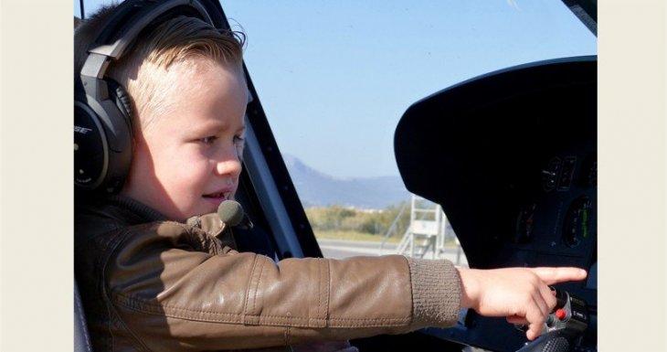 Arthur, 4 ans, a volé en hélicoptère