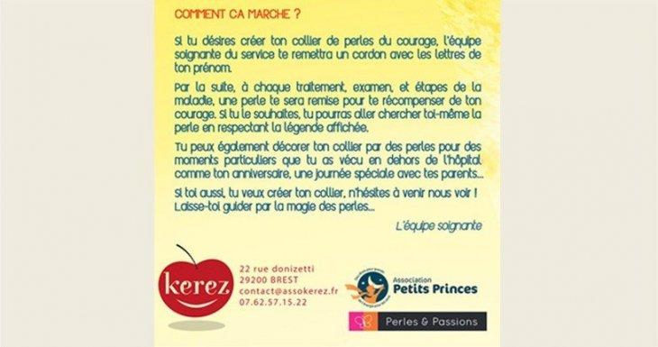 Depuis février 2014 : Les Perles du courage au CHU de Brest